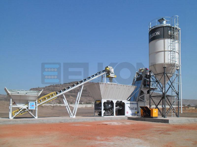 Компактный бетонный завод ELKOMIX-135 Quick Master (скиповая подача) (фото 1)