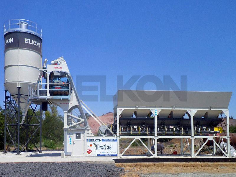 Компактный бетонный завод ELKOMIX-135 Quick Master (скиповая подача) (фото 2)