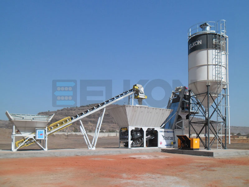 Компактный бетонный завод ELKOMIX-135 Quick Master (скиповая подача) (фото 4)