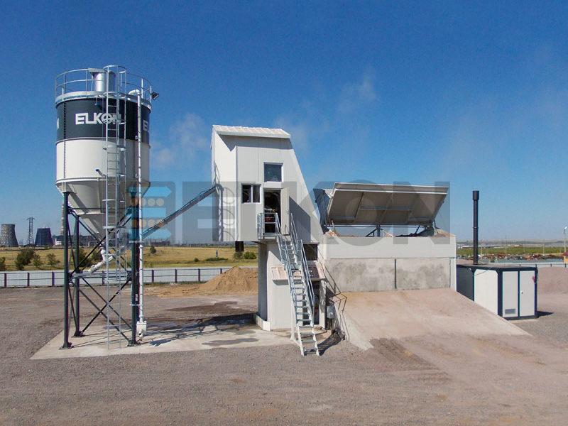 Компактный бетонный завод ELKOMIX-135 Quick Master (скиповая подача) (фото 5)