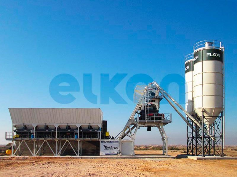 Компактный бетонный завод ELKOMIX-120 Quick Master (скиповая подача) (фото 3)