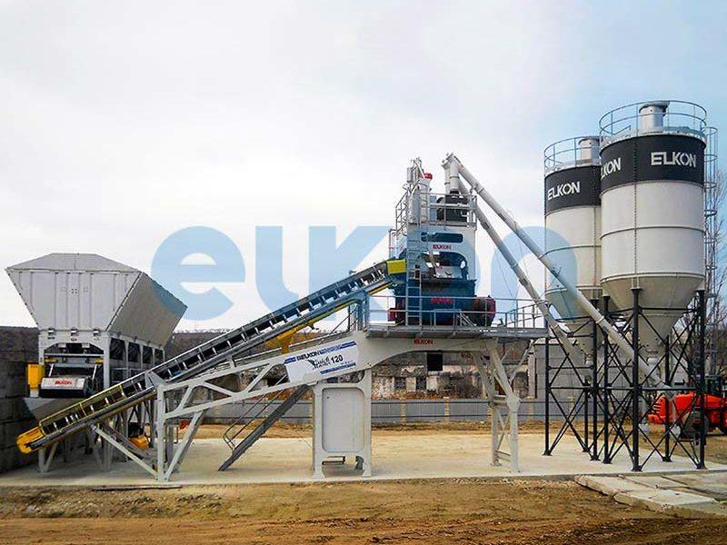 Компактный бетонный завод ELKOMIX-120 Quick Master (скиповая подача) (фото 4)