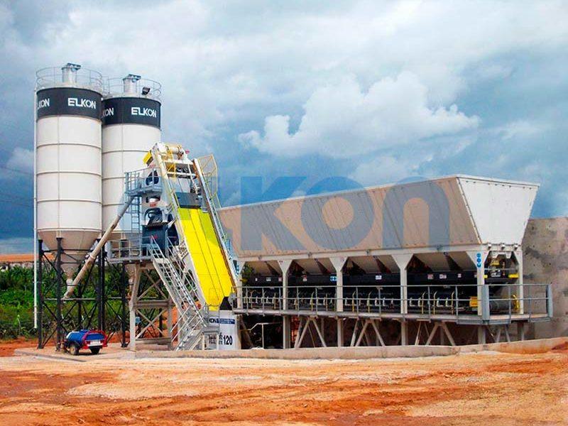 Компактный бетонный завод ELKOMIX-120 Quick Master (скиповая подача) (фото 5)