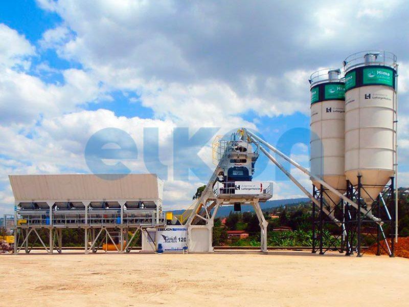 Компактный бетонный завод ELKOMIX-120 Quick Master (скиповая подача) (фото 6)