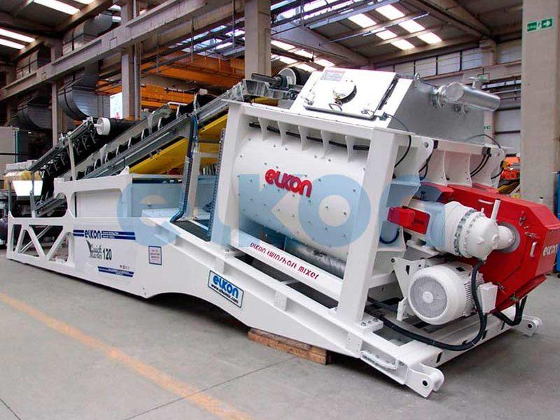 Компактный бетонный завод ELKOMIX-120 Quick Master (скиповая подача) (фото 8)