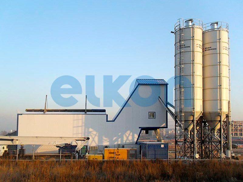 Компактный бетонный завод ELKOMIX-120 Quick Master (скиповая подача) (фото 10)