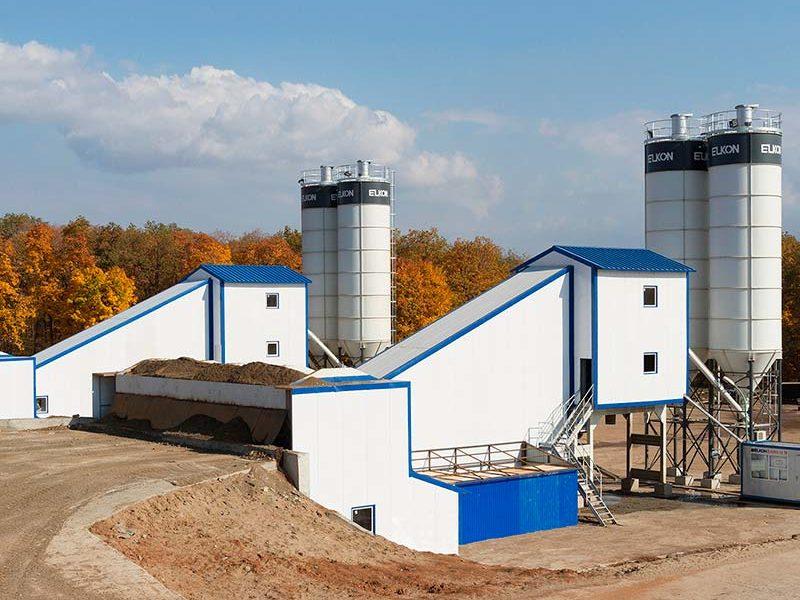 Компактный бетонный завод ELKOMIX-120 Quick Master (скиповая подача) (фото 11)