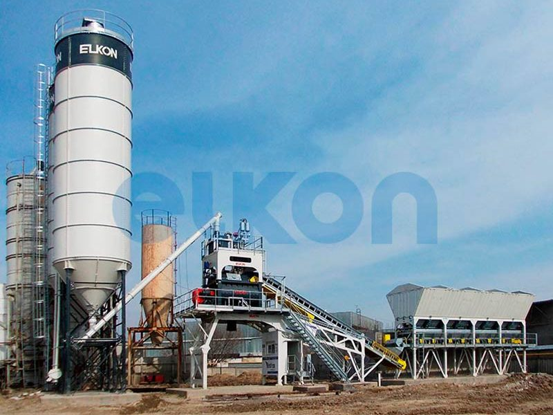 Компактный бетонный завод ELKOMIX-135 Quick Master (конвейерная подача) (фото 2)