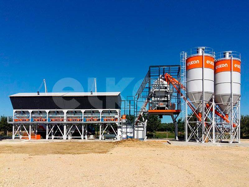 Компактный бетонный завод ELKOMIX-135 Quick Master (конвейерная подача) (фото 3)