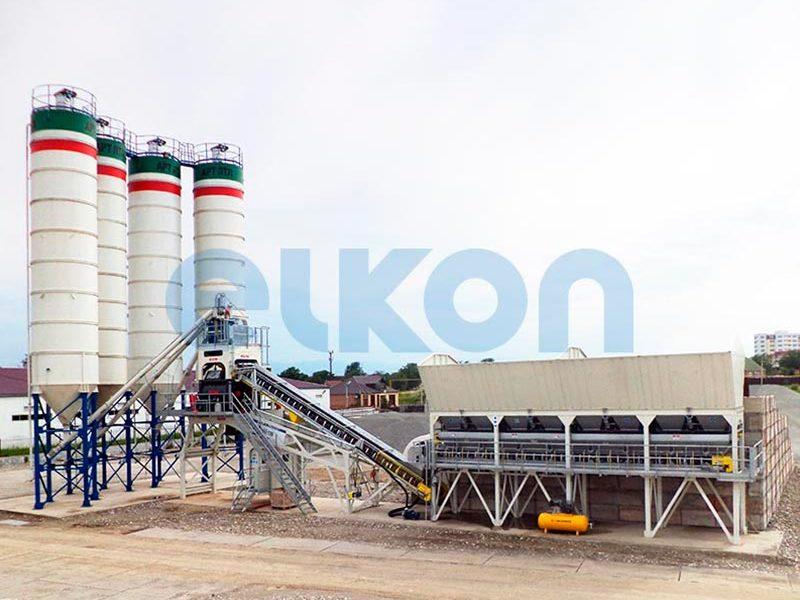 Компактный бетонный завод ELKOMIX-135 Quick Master (конвейерная подача) (фото 4)