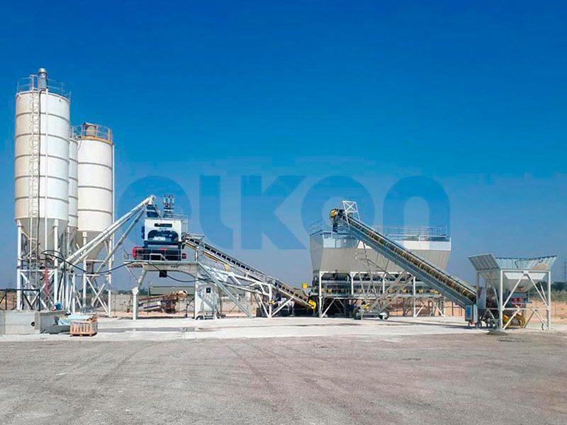 Компактный бетонный завод ELKOMIX-135 Quick Master (конвейерная подача) (фото 5)