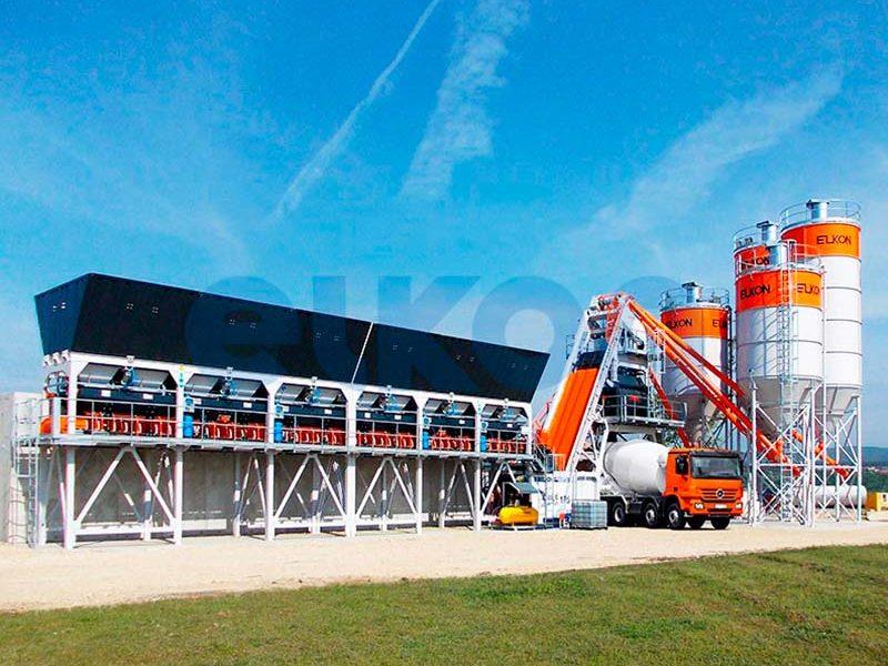 Компактный бетонный завод ELKOMIX-135 Quick Master (конвейерная подача) (фото 6)