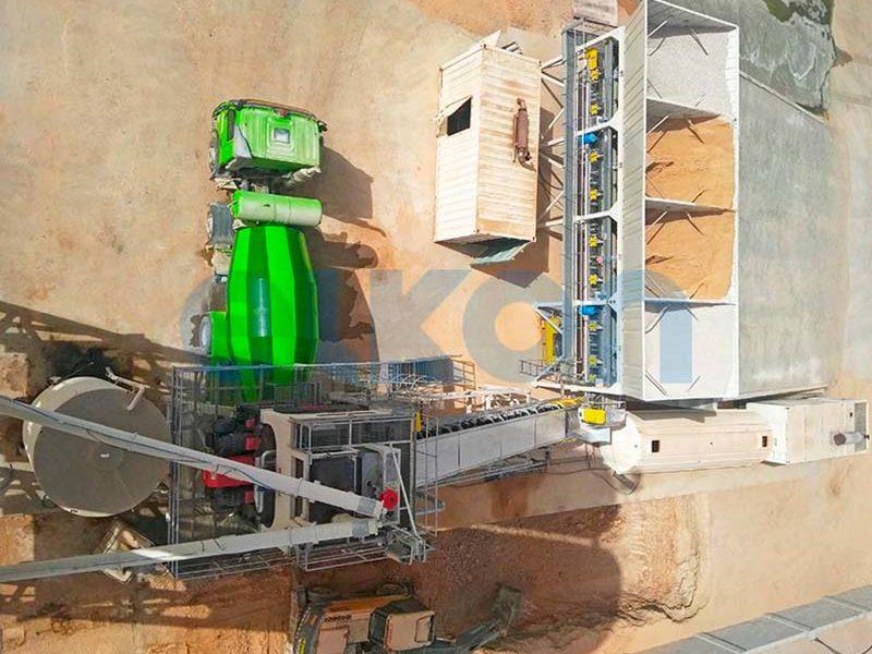 Компактный бетонный завод ELKOMIX-135 Quick Master (конвейерная подача) (фото 7)