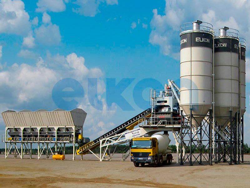 Компактный бетонный завод ELKOMIX-135 Quick Master (конвейерная подача) (фото 8)
