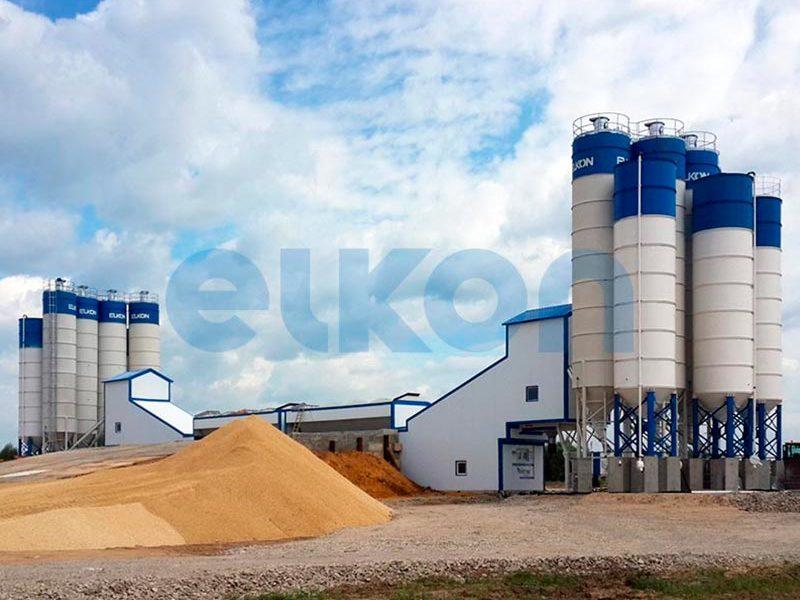Компактный бетонный завод ELKOMIX-135 Quick Master (конвейерная подача) (фото 9)