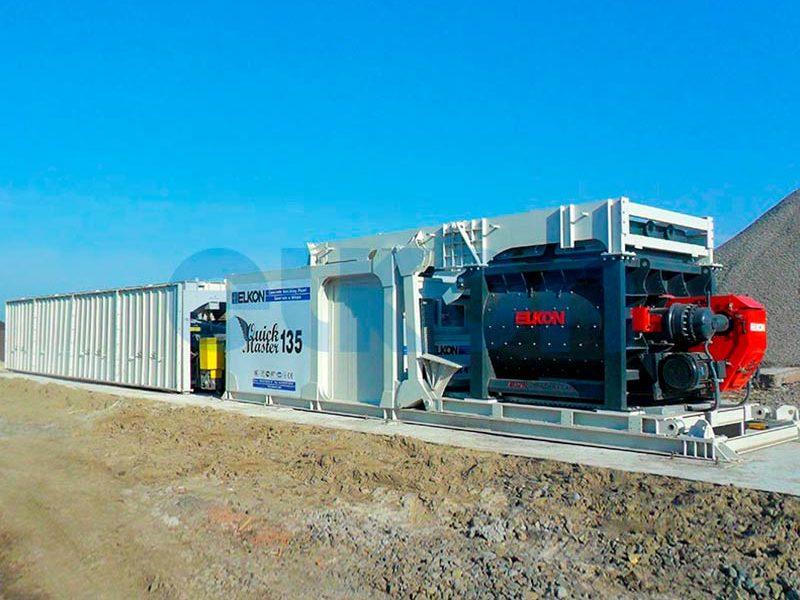 Компактный бетонный завод ELKOMIX-135 Quick Master (конвейерная подача) (фото 10)