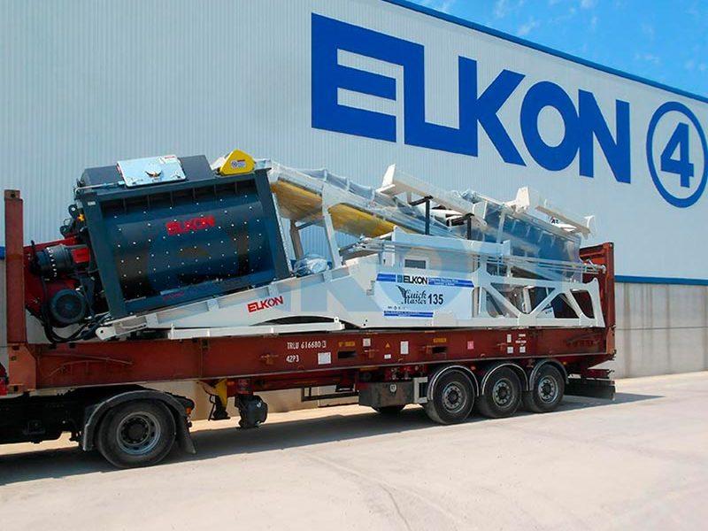 Компактный бетонный завод ELKOMIX-135 Quick Master (конвейерная подача) (фото 11)