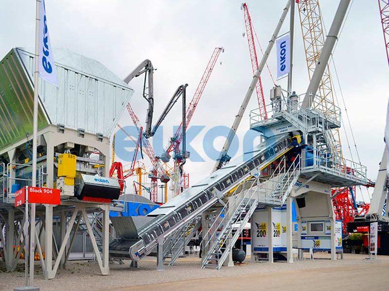 Компактный бетонный завод ELKOMIX-200 Quick Master (конвейерная подача) (фото 1)