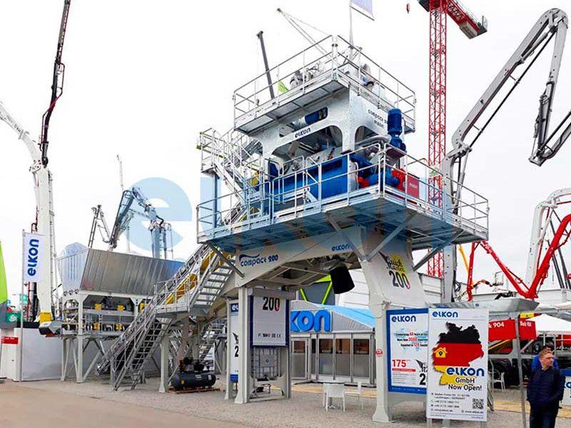Компактный бетонный завод ELKOMIX-200 Quick Master (конвейерная подача) (фото 2)