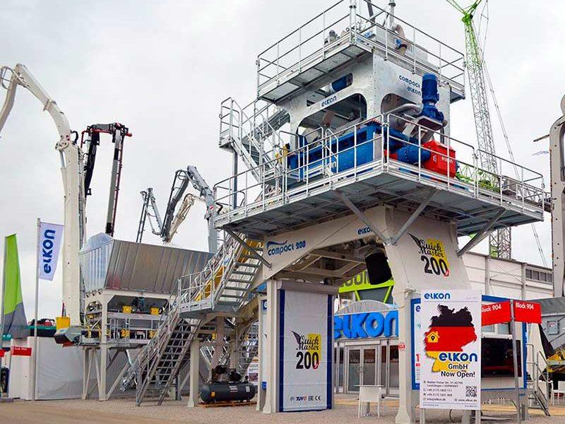 Компактный бетонный завод ELKOMIX-200 Quick Master (конвейерная подача) (фото 3)