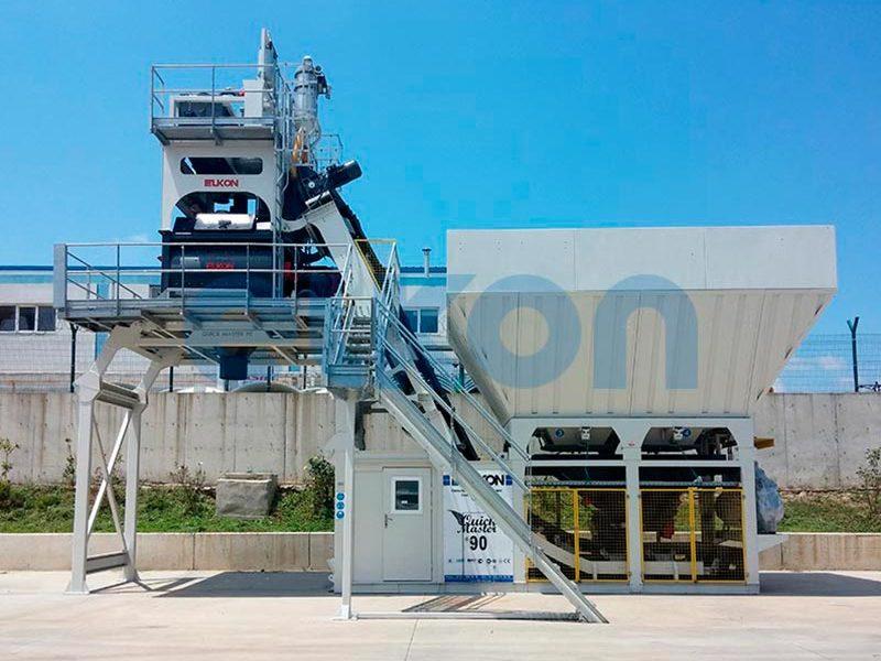 Компактный бетонный завод ELKOMIX-90 Quick Master - конвейерная подача (фото 1)