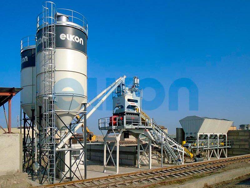 Компактный бетонный завод ELKOMIX-90 Quick Master - конвейерная подача (фото 6)