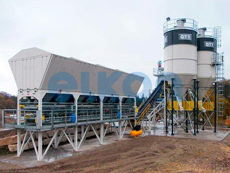 Компактный бетонный завод ELKOMIX-90 Quick Master - конвейерная подача (фото 7)