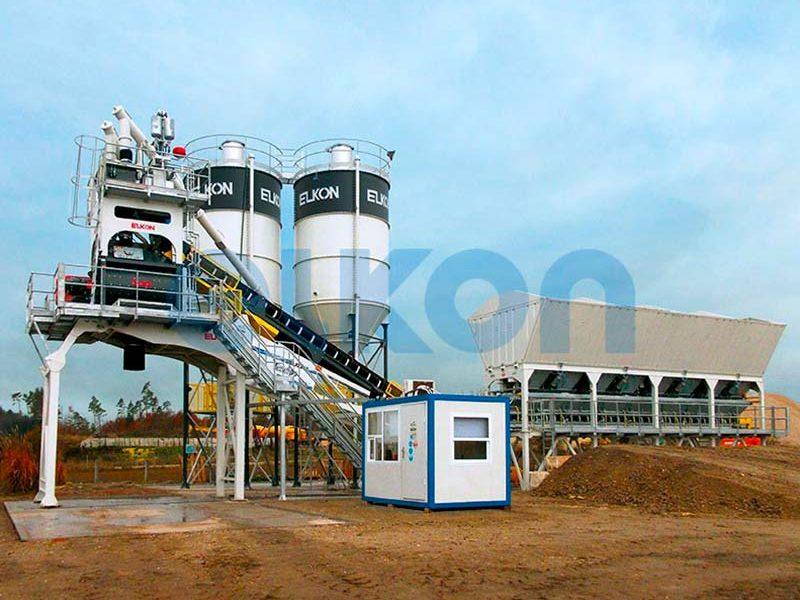 Компактный бетонный завод ELKOMIX-90 Quick Master - конвейерная подача (фото 8)