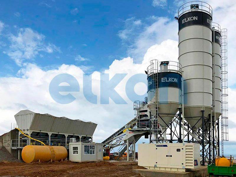 Компактный бетонный завод ELKOMIX-90 Quick Master - конвейерная подача (фото 9)