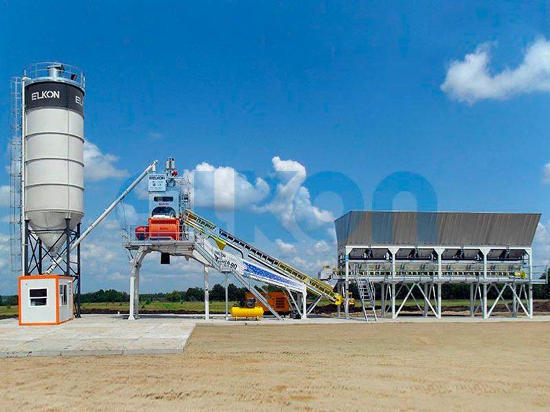 Компактный бетонный завод ELKOMIX-90 Quick Master - конвейерная подача (фото 10)