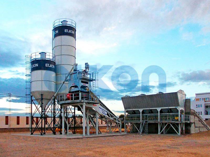 Компактный бетонный завод ELKOMIX-90 Quick Master - конвейерная подача (фото 11)