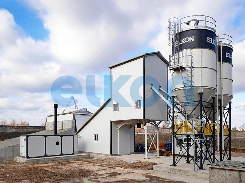 Компактный бетонный завод ELKOMIX-90 Quick Master - конвейерная подача (фото 12)