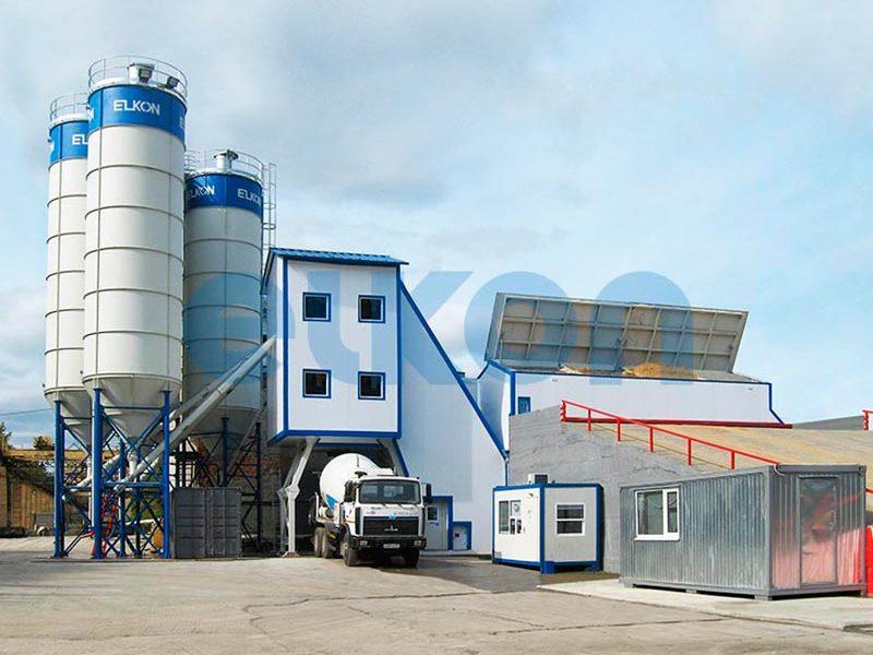 Компактный бетонный завод ELKOMIX-90 Quick Master - конвейерная подача (фото 13)