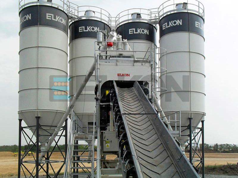 Компактный бетонный завод ELKOMIX-90 Quick Master - конвейерная подача (фото 15)