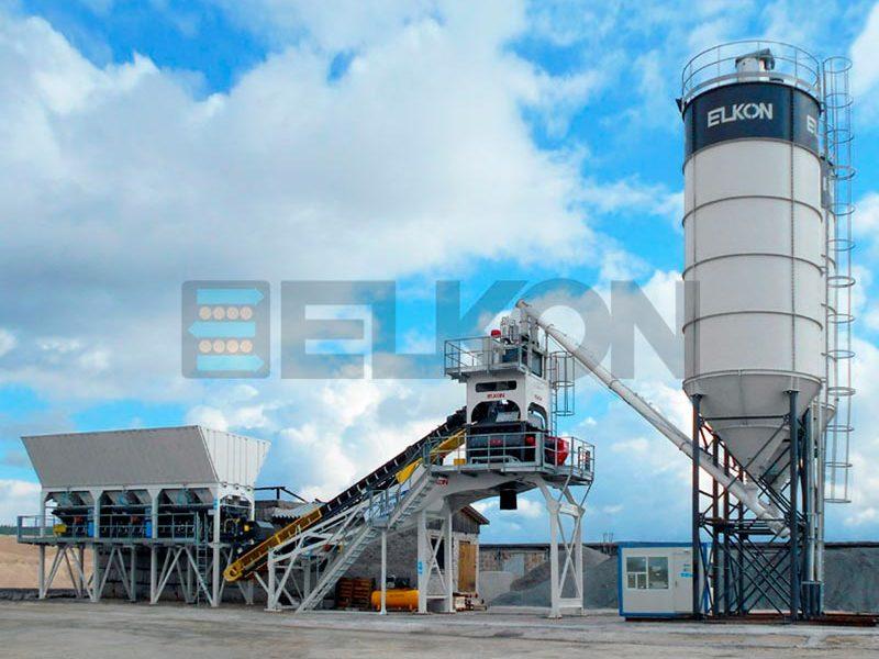 Компактный бетонный завод ELKOMIX-90 Quick Master - конвейерная подача (фото 18)