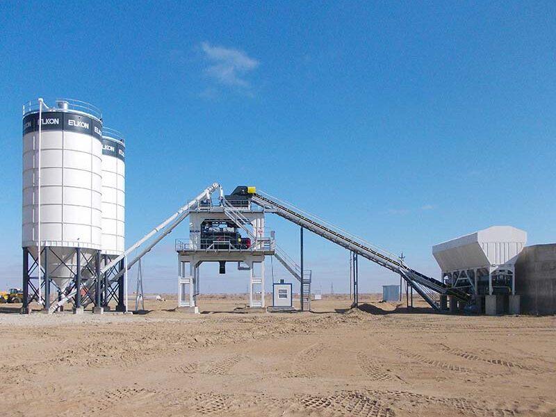 Стационарный бетонный завод ELKOMIX-180 (фото 1)