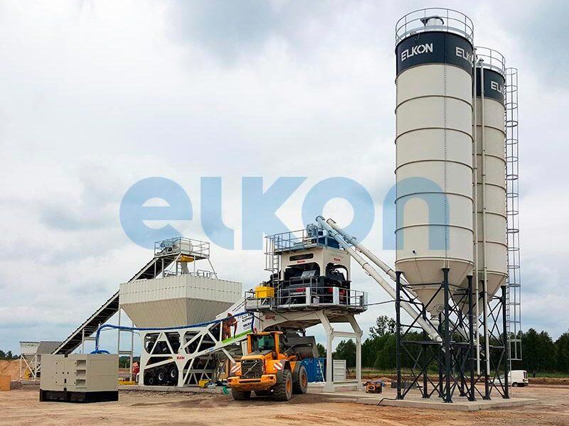 Мобильный бетонный завод ELKON MOBILE MASTER-150 Elephant (фото 2)