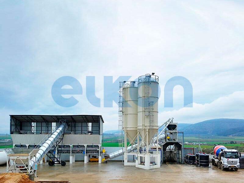 Стационарный бетонный завод ELKOMIX-120 (фото 2)