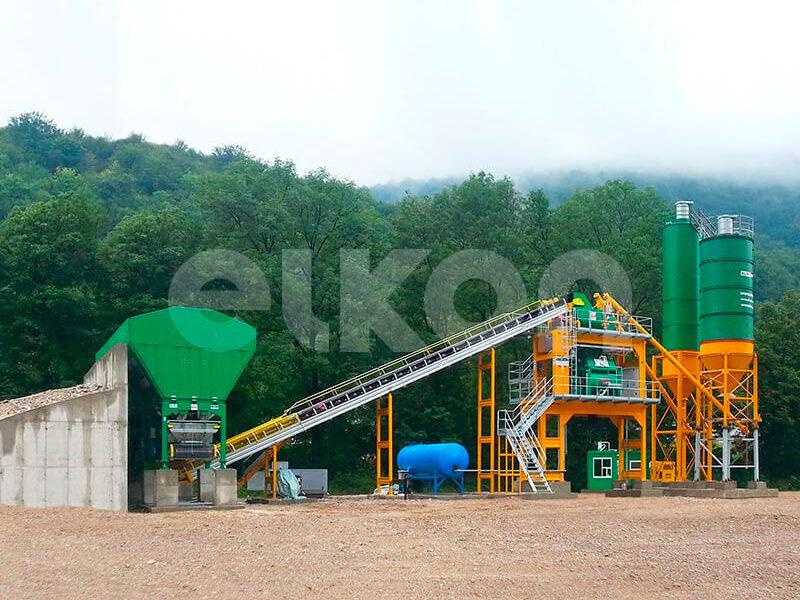 Стационарный бетонный завод ELKOMIX-120 (фото 4)