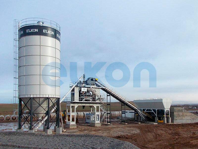 Стационарный бетонный завод ELKOMIX-200 (фото 1)