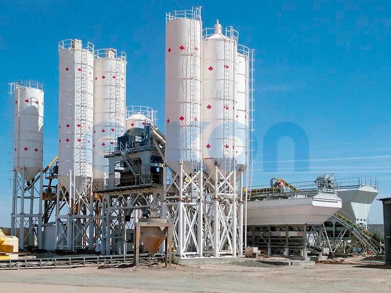 Стационарный бетонный завод ELKOMIX-200 (фото 2)