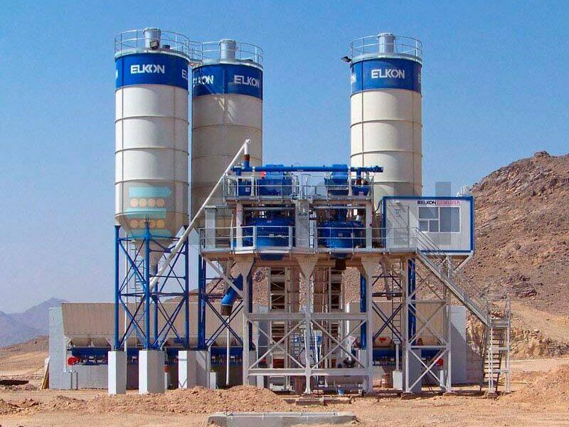 Стационарные бетонные заводы с двумя смесителями (фото 1)