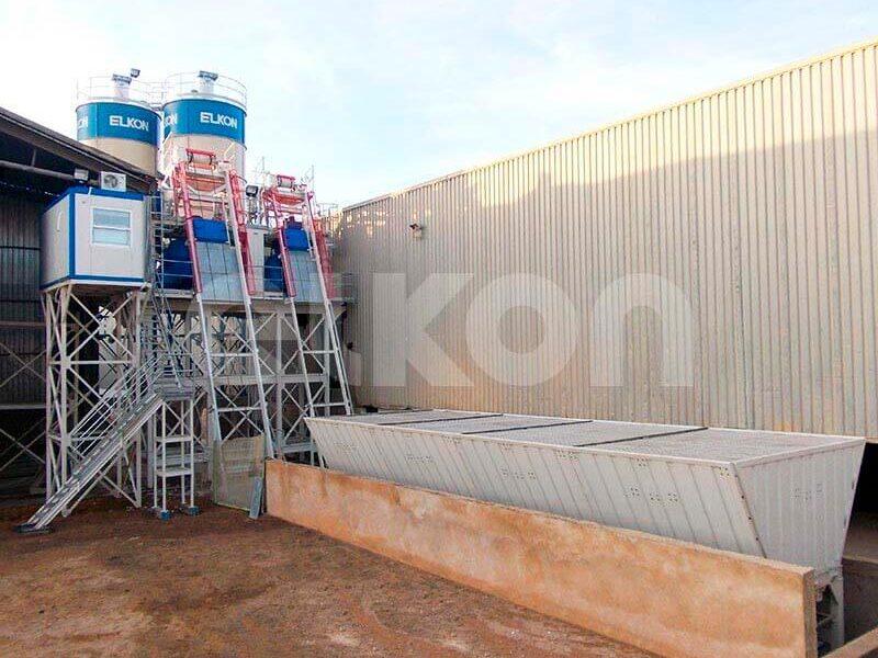 Стационарные бетонные заводы с двумя смесителями (фото 2)