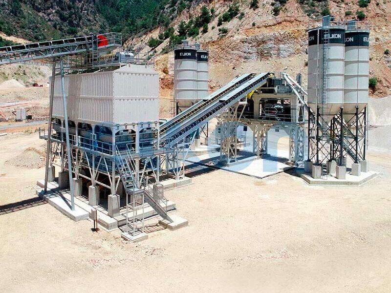 Стационарные бетонные заводы с двумя смесителями (фото 3)