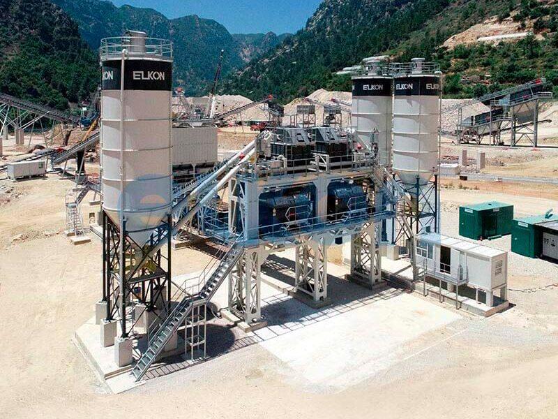 Стационарные бетонные заводы с двумя смесителями (фото 4)