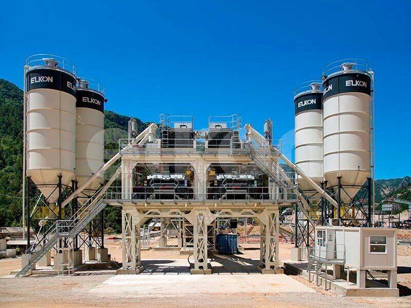 Стационарные бетонные заводы с двумя смесителями (фото 5)