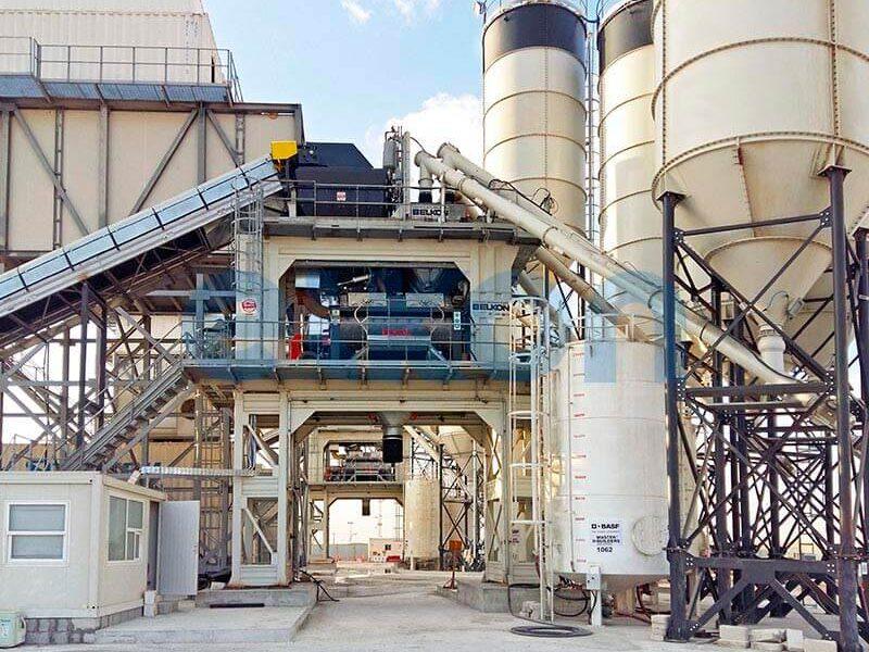 Стационарные бетонные заводы с двумя смесителями (фото 6)