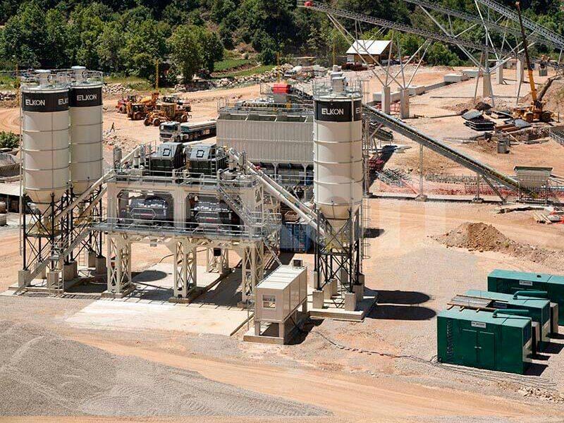 Стационарные бетонные заводы с двумя смесителями (фото 7)