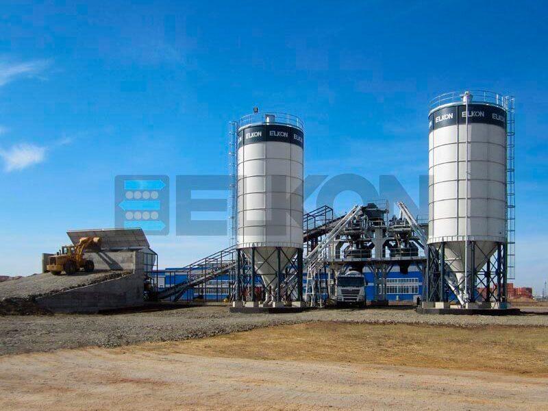 Стационарные бетонные заводы с двумя смесителями (фото 8)